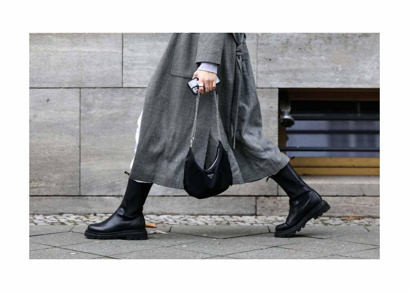 Streetstyle mit Jacky Zelwis bei der Mercedes-Benz Fashion Week Berlin