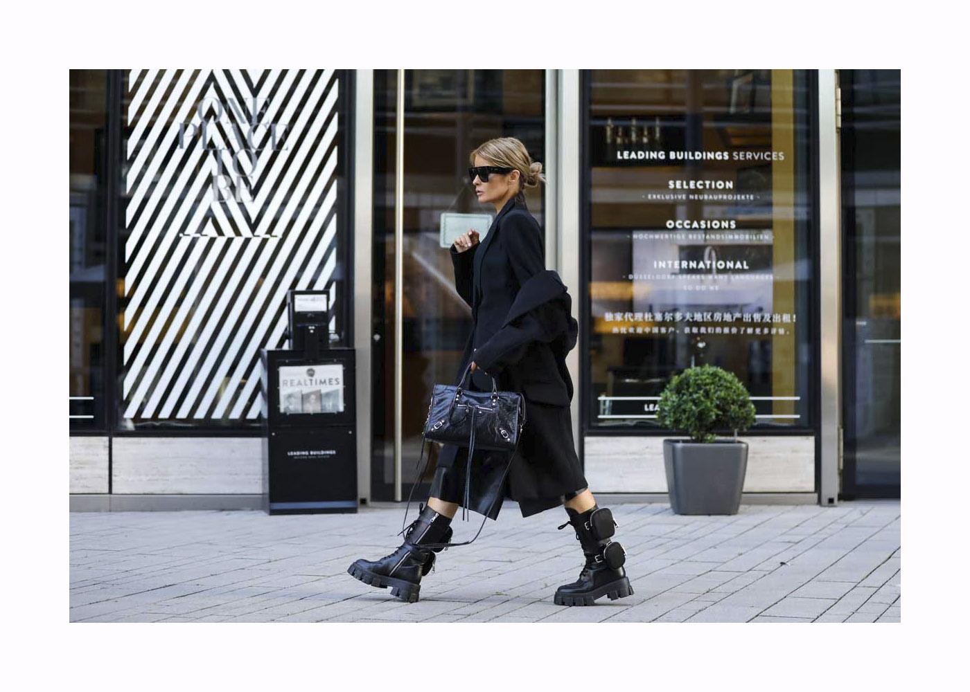 Gitta Banko Street Style Shooting In Dusseldorf