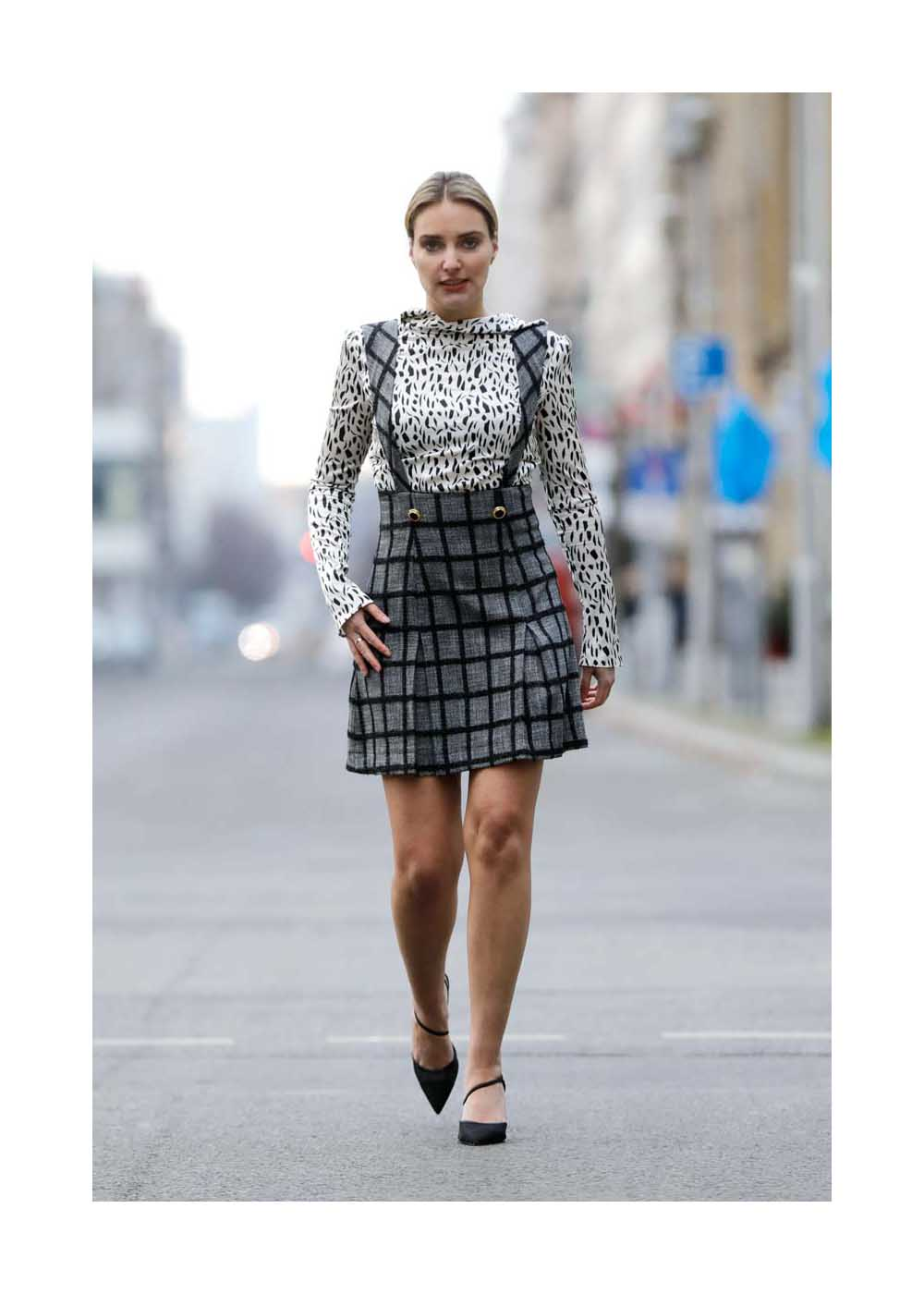 Streetstyle mit Marie von den Benken auf der Mercedes-Benz Fashion Week Berlin January 2021