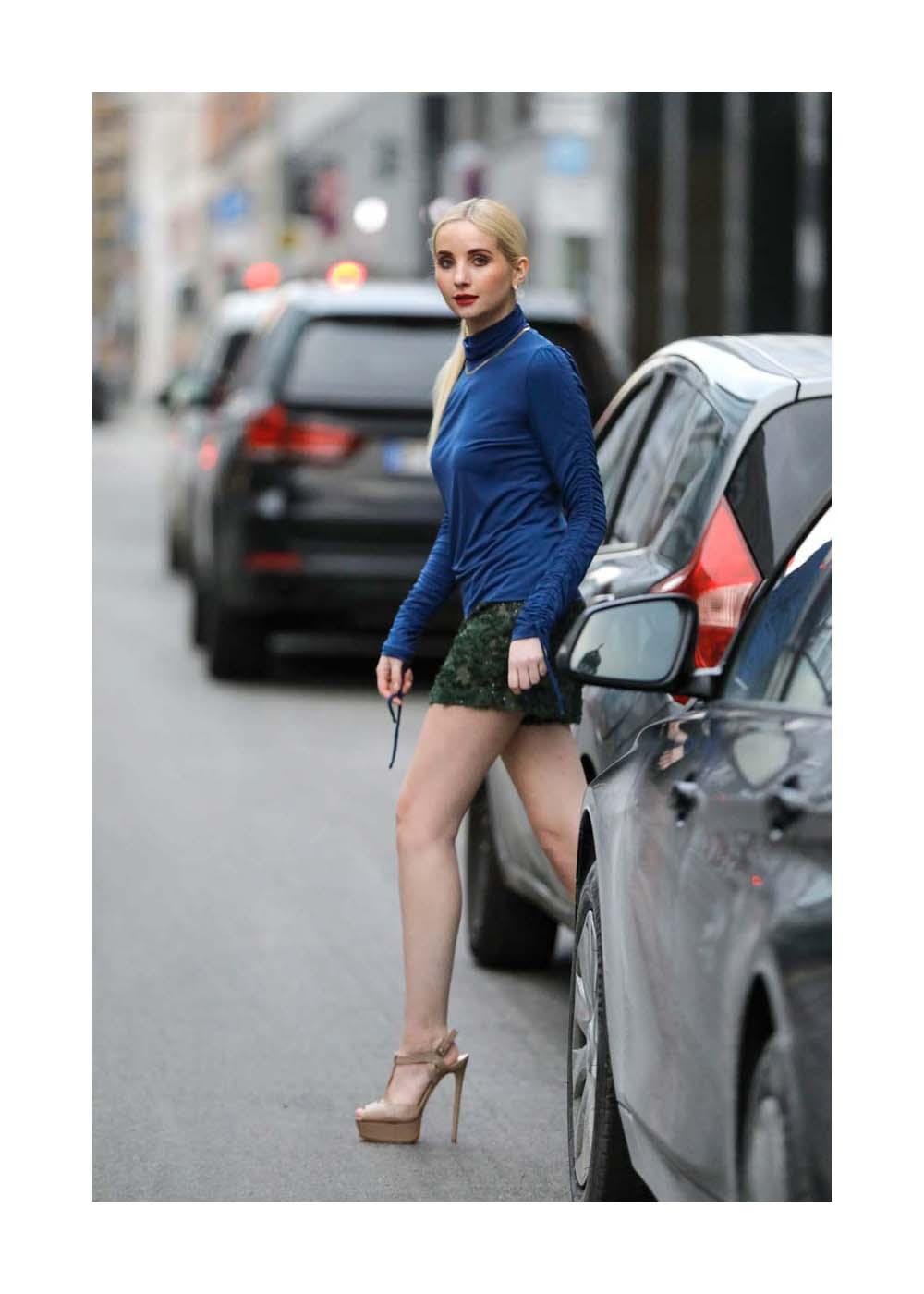 Streetstyle mit Anna Hiltrop bei der Mercedes-Benz Fashion Week Berlin January 2021