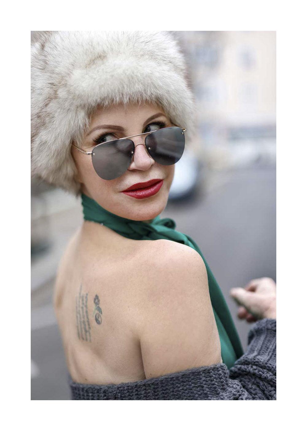 Nadja Michael Street Style Shooting In Berlin