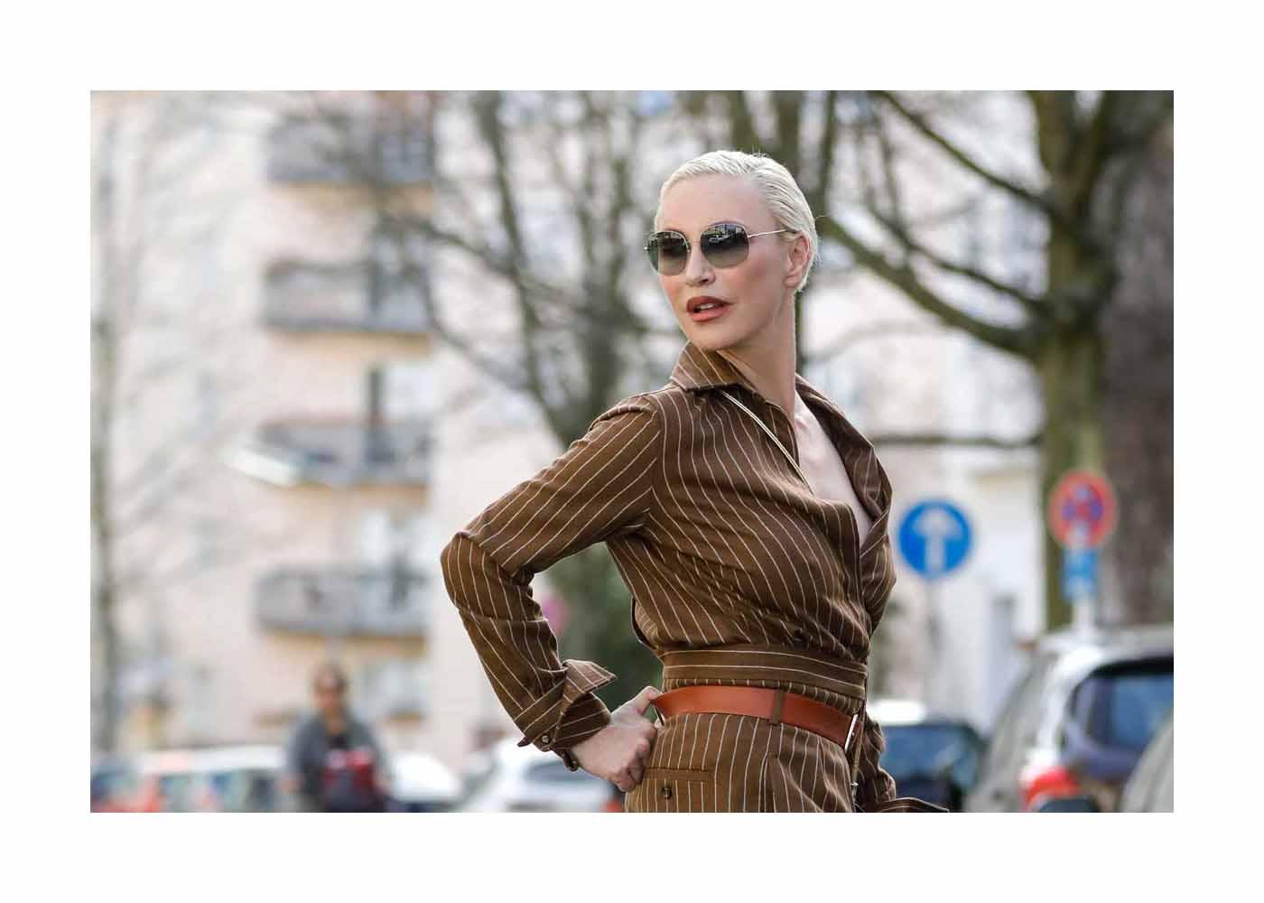 Nadja Michael Streetstyle Shooting In Berlin