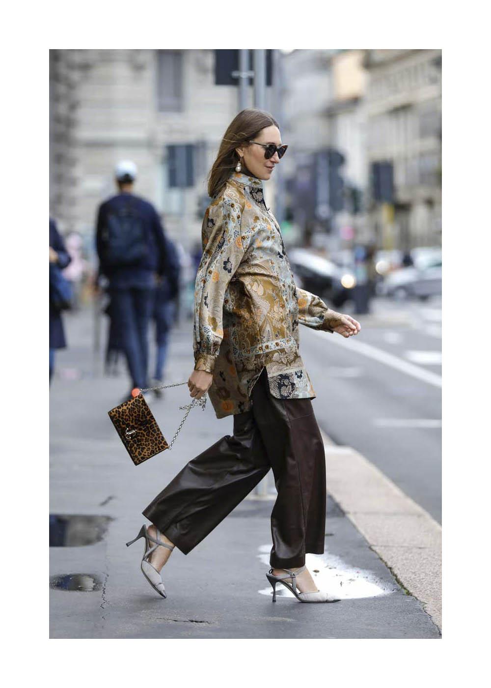 Streetstyle während der Fashion Week Milano
