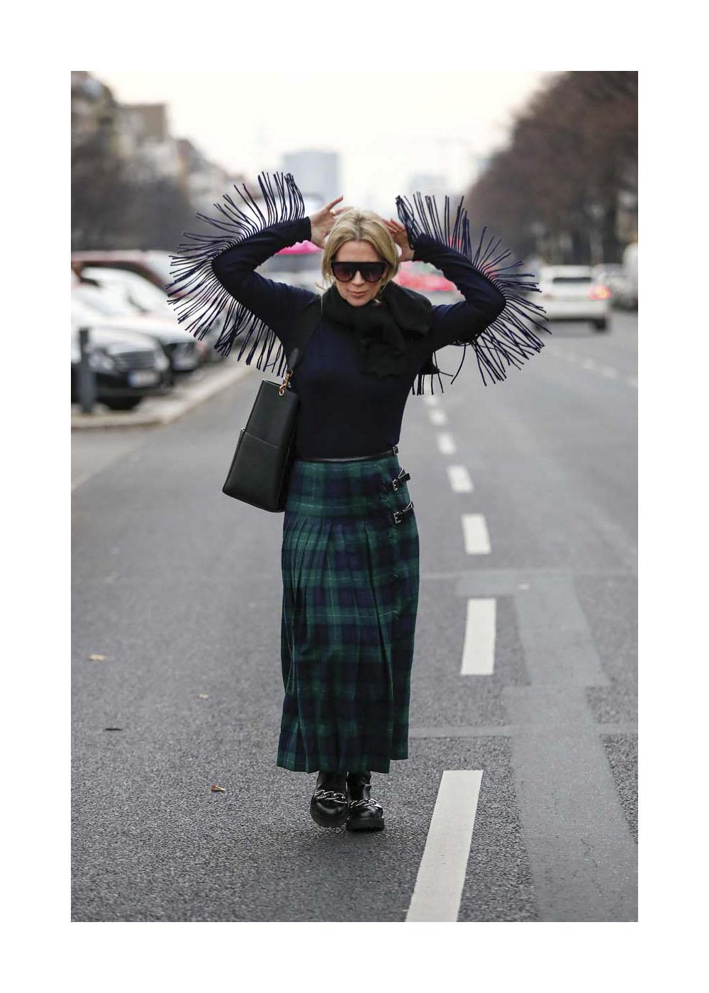 Tamara von Nayhauss Street Style Shooting In Berlin