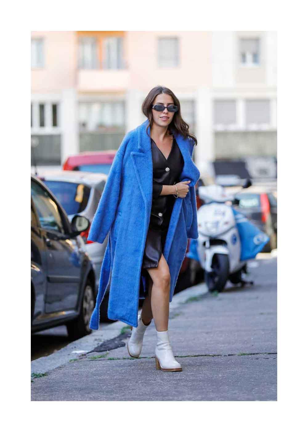 Sarah Lou Falk Streetstyle Shooting in Mailand
