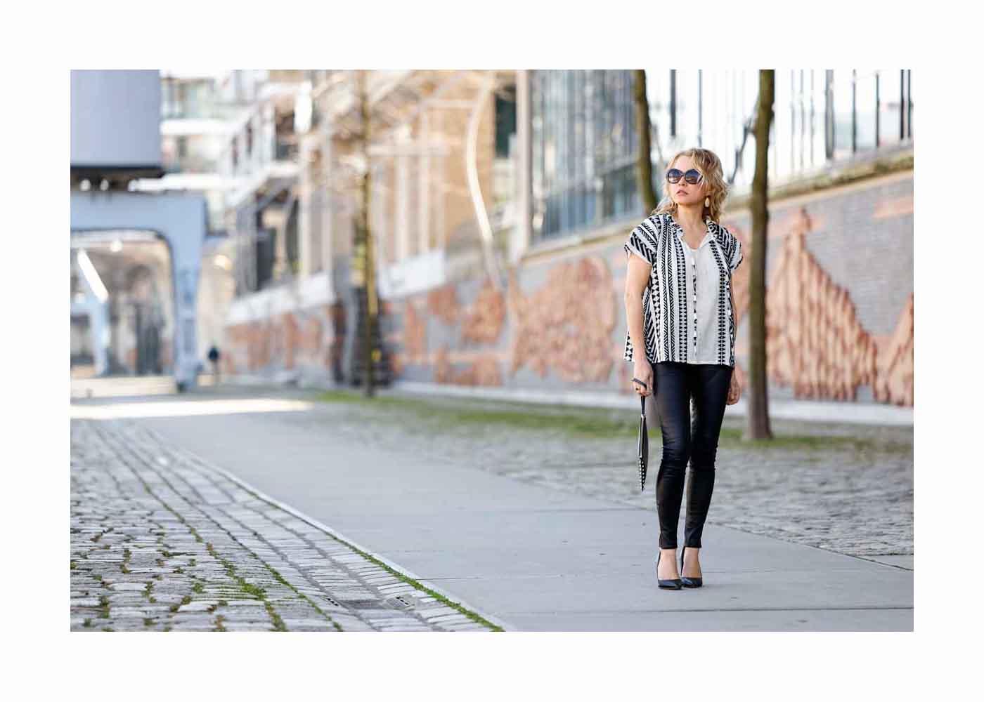 Nova Meierhenrich Street Style In Hamburg