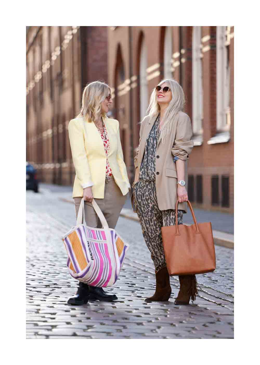 Streetstyle Shooting mit Influencer Sue Blond und Influencer Carina Grendel