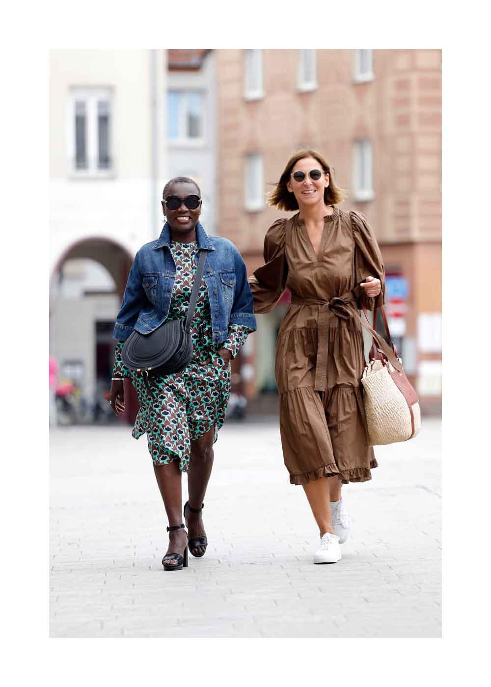 Streetstyle Shooting mit Auma Obama und Fashion Designer Eva Lutz