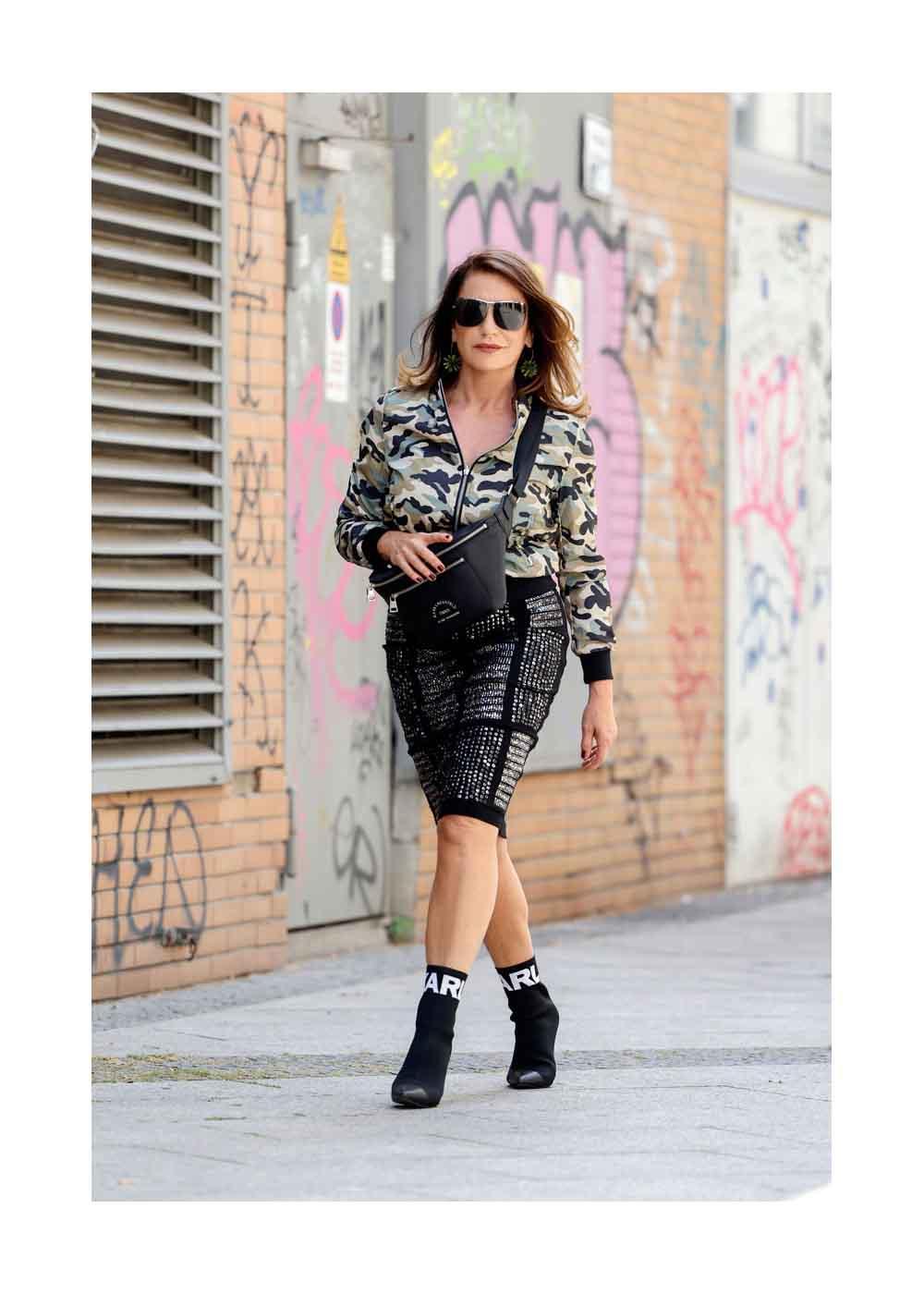 Streetstyle Shooting mit Schauspielerin Christine Neubauer
