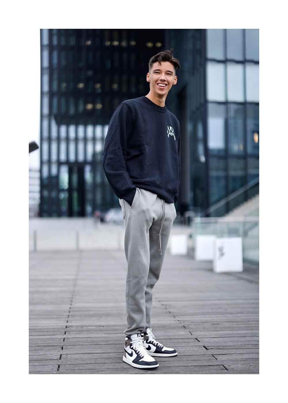 Street Style Shooting mit San Diego Pooth, dem Sohn von Moderatorin und Werbeikone Verona Pooth